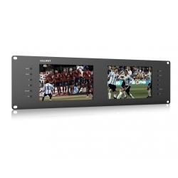 "7"" x 2 LCD   Rack Monitor  All in one Input/Output"